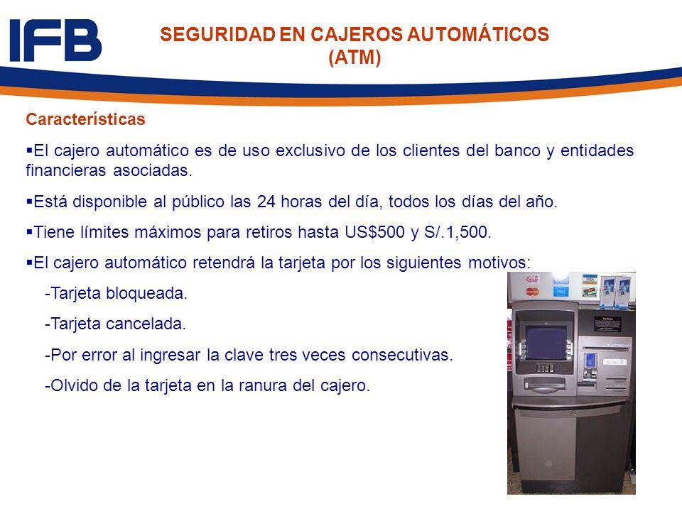 SEGURIDAD EN CAJEROS AUTOMÁTICOS (ATM)