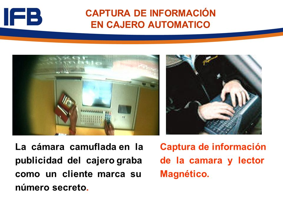 CAPTURA DE INFORMACIÓN EN CAJERO AUTOMATICO