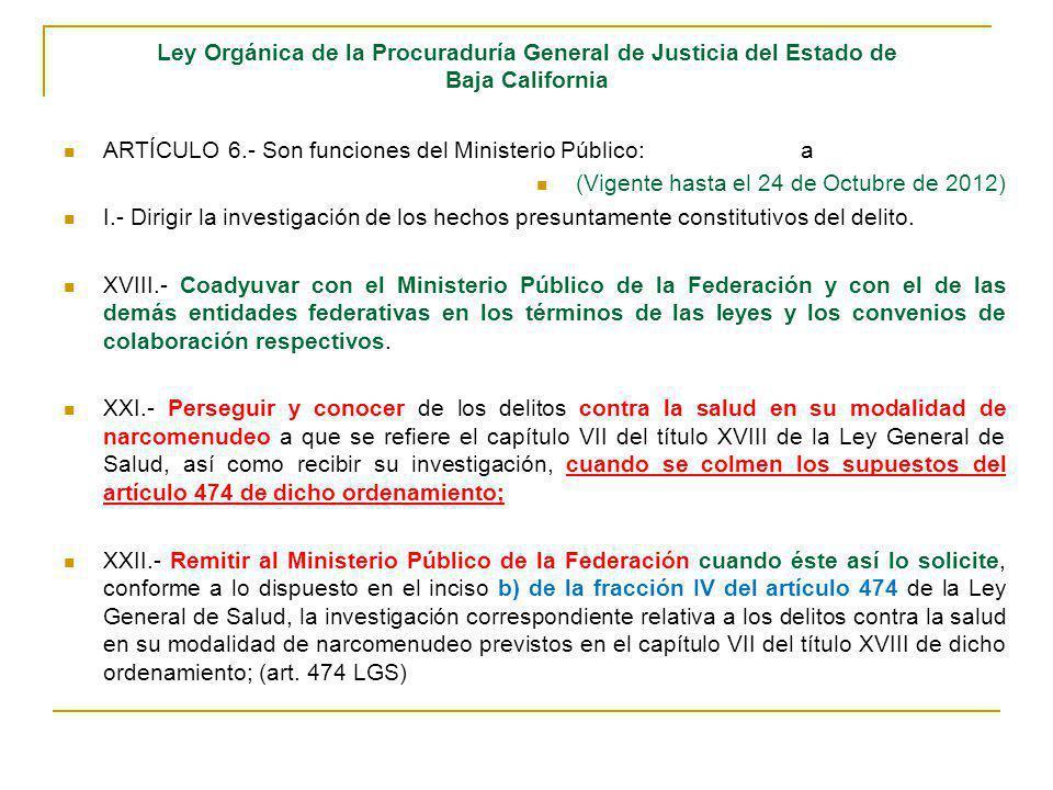 Ley Orgánica de la Procuraduría General de Justicia del Estado de Baja California