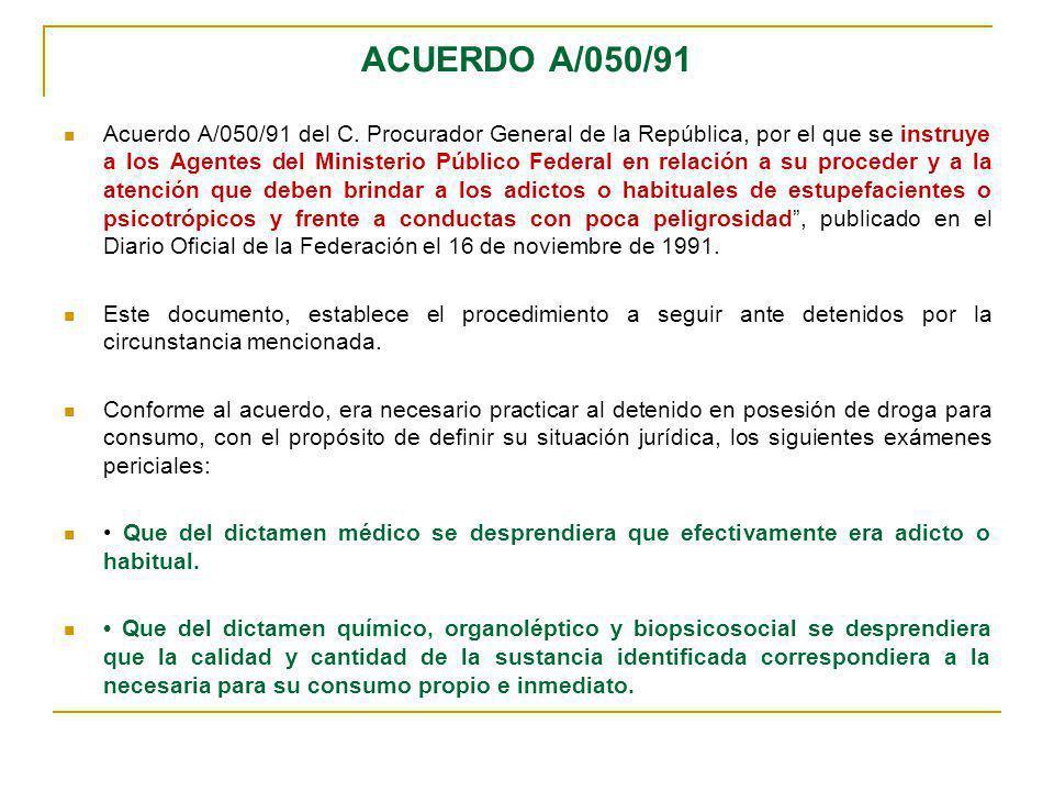 ACUERDO A/050/91