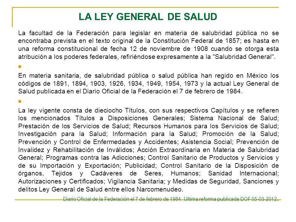 LA LEY GENERAL DE SALUD