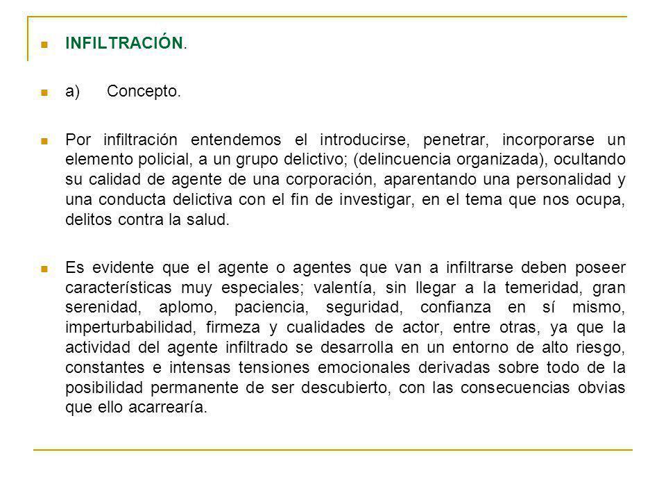 INFILTRACIÓN. a) Concepto.