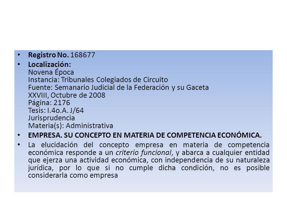 Registro No. 168677