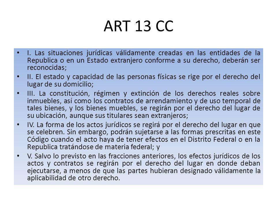 ART 13 CC