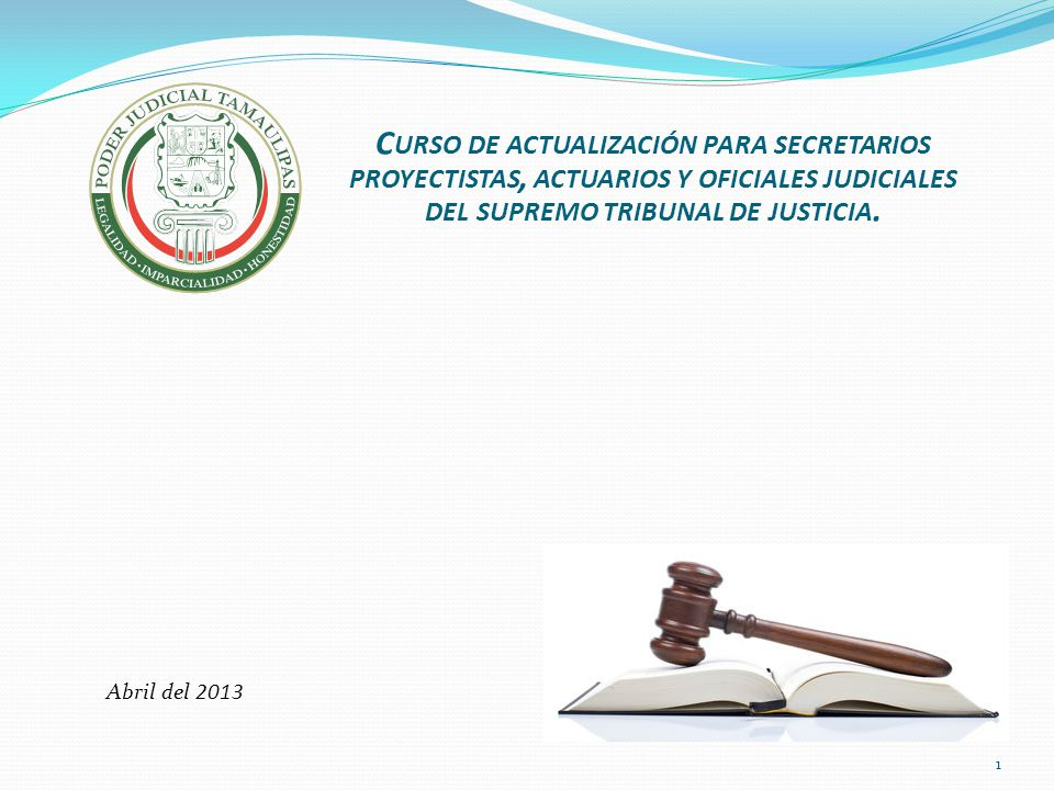 del supremo tribunal de justicia.