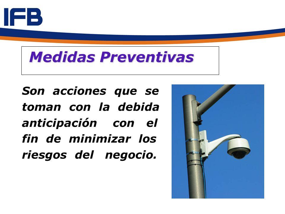 Medidas Preventivas Son acciones que se toman con la debida