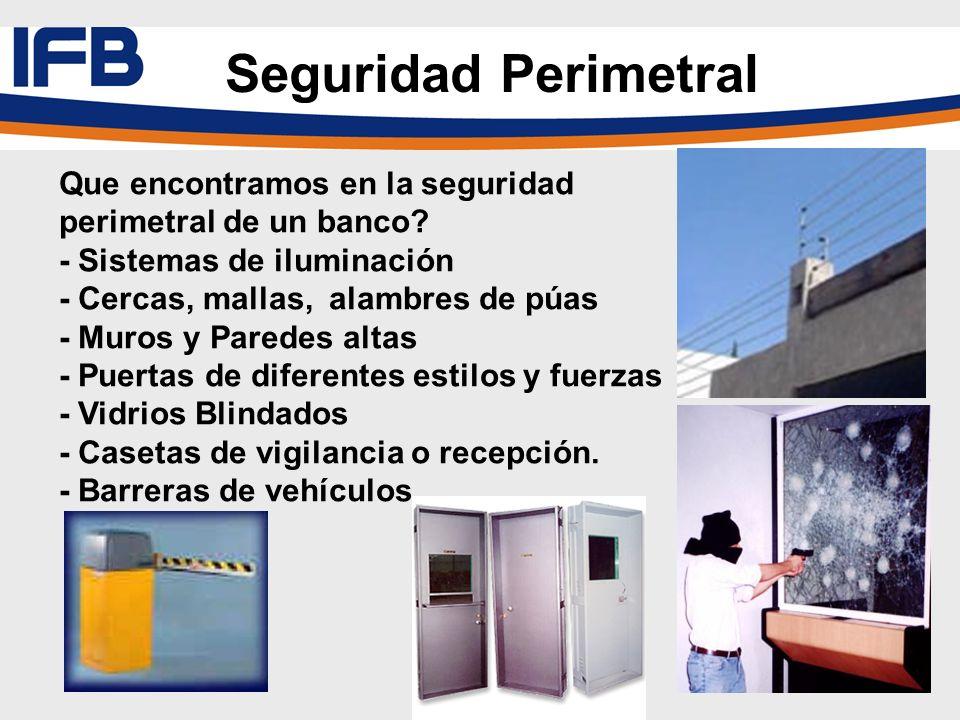 Seguridad Perimetral Que encontramos en la seguridad perimetral de un banco