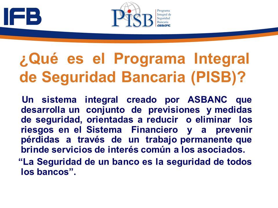 ¿Qué es el Programa Integral de Seguridad Bancaria (PISB)