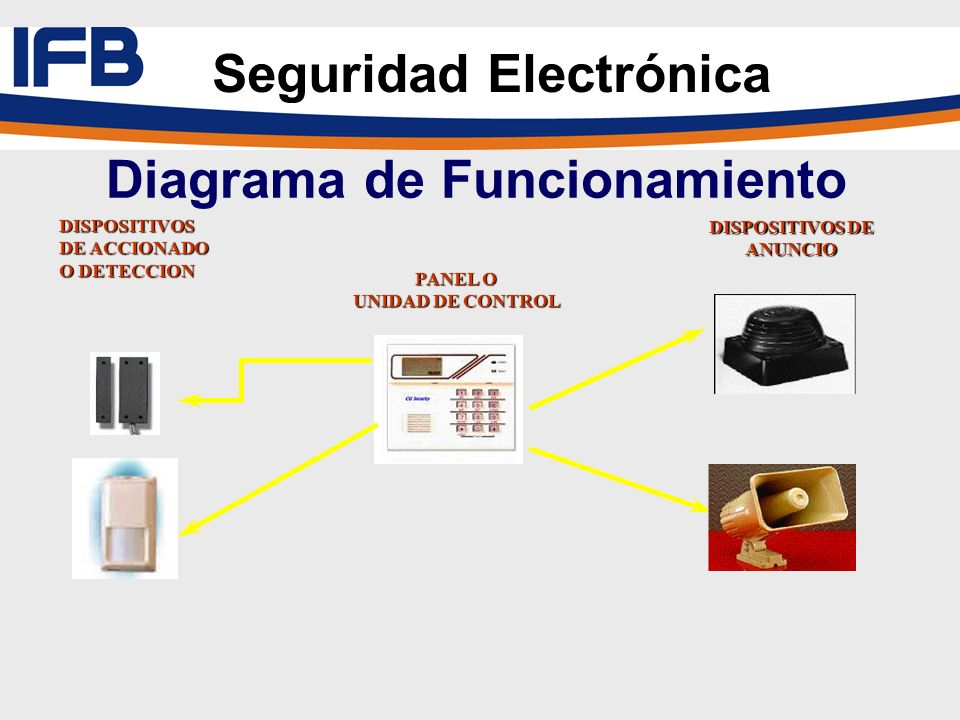 Seguridad Electrónica Diagrama de Funcionamiento