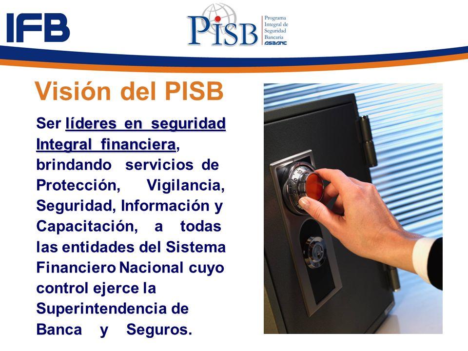 Visión del PISB Ser líderes en seguridad Integral financiera,
