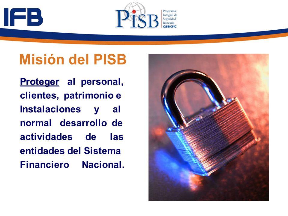Misión del PISB Proteger al personal, clientes, patrimonio e