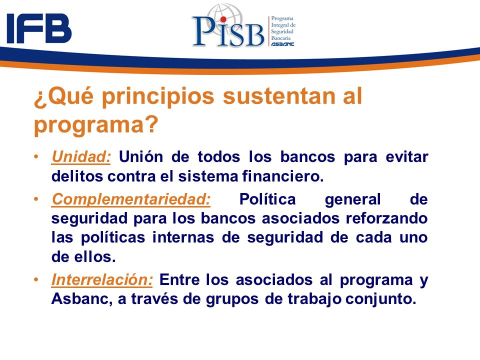 ¿Qué principios sustentan al programa