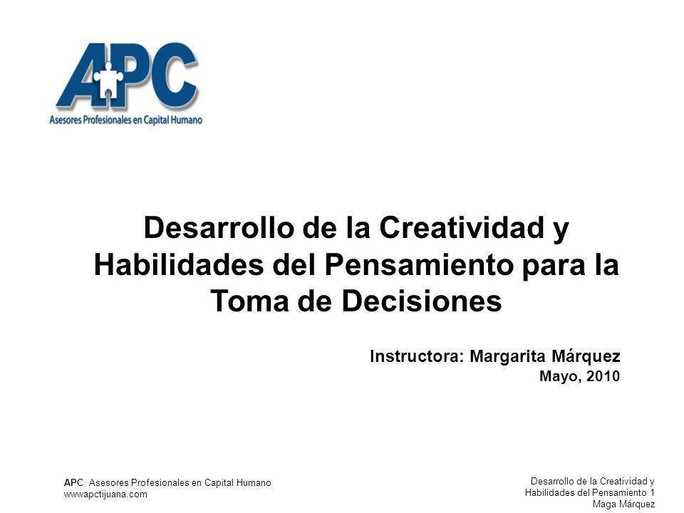 Desarrollo de la Creatividad y Habilidades del Pensamiento para la Toma de Decisiones