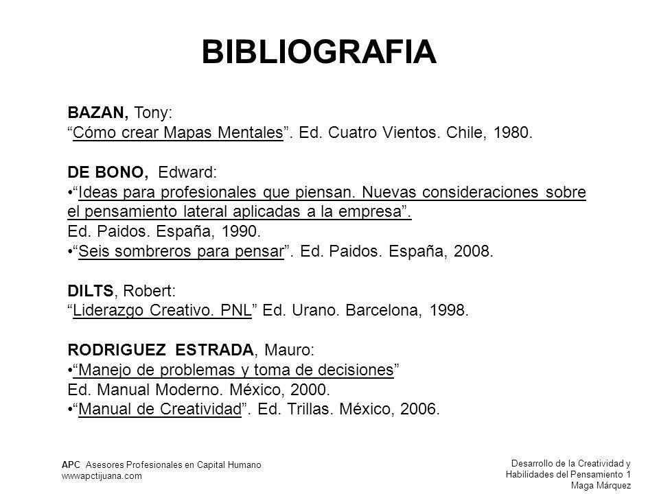BIBLIOGRAFIA BAZAN, Tony: