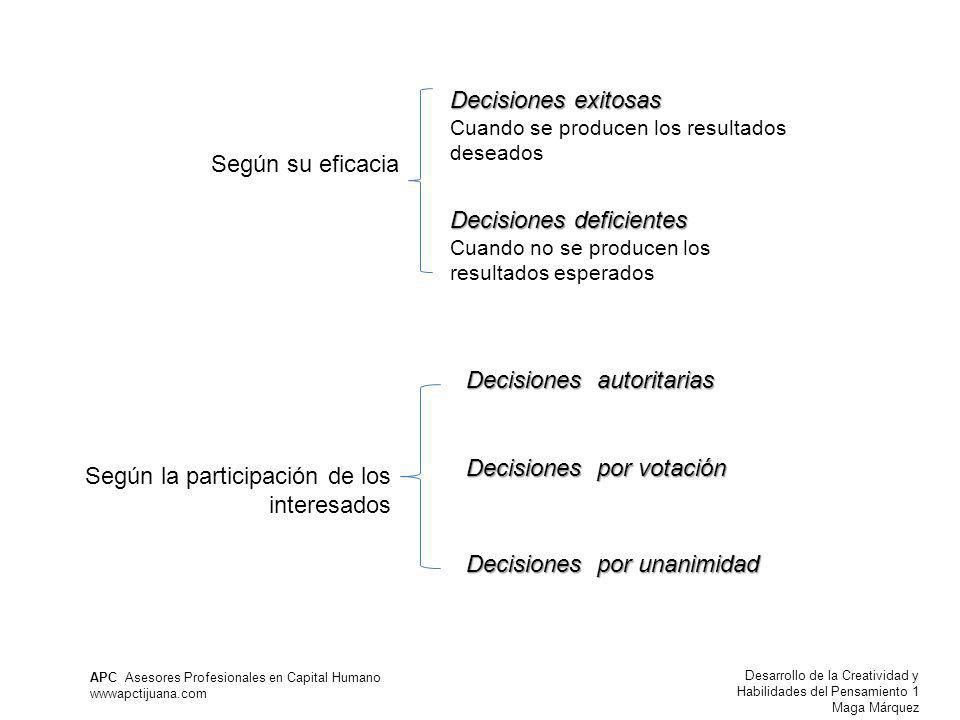 Decisiones deficientes
