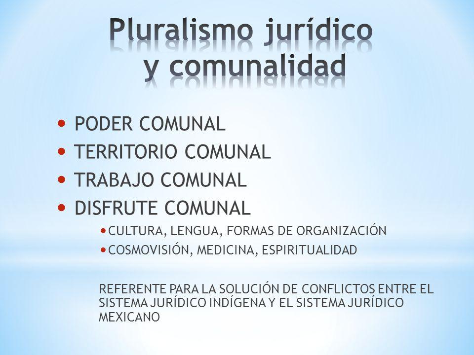 Pluralismo jurídico y comunalidad