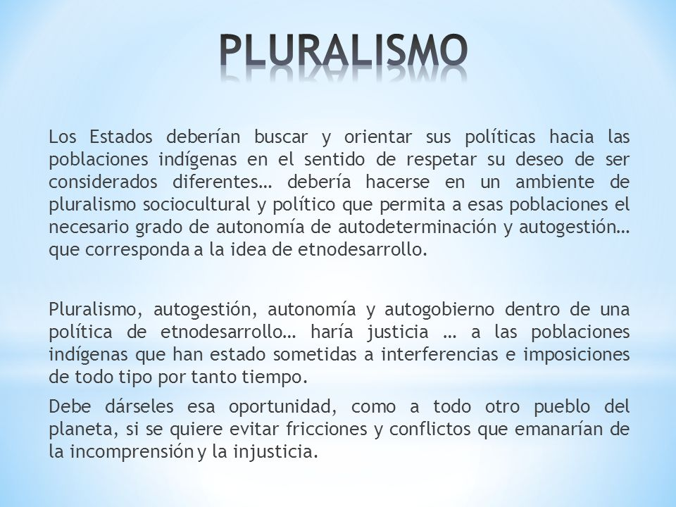 PLURALISMO