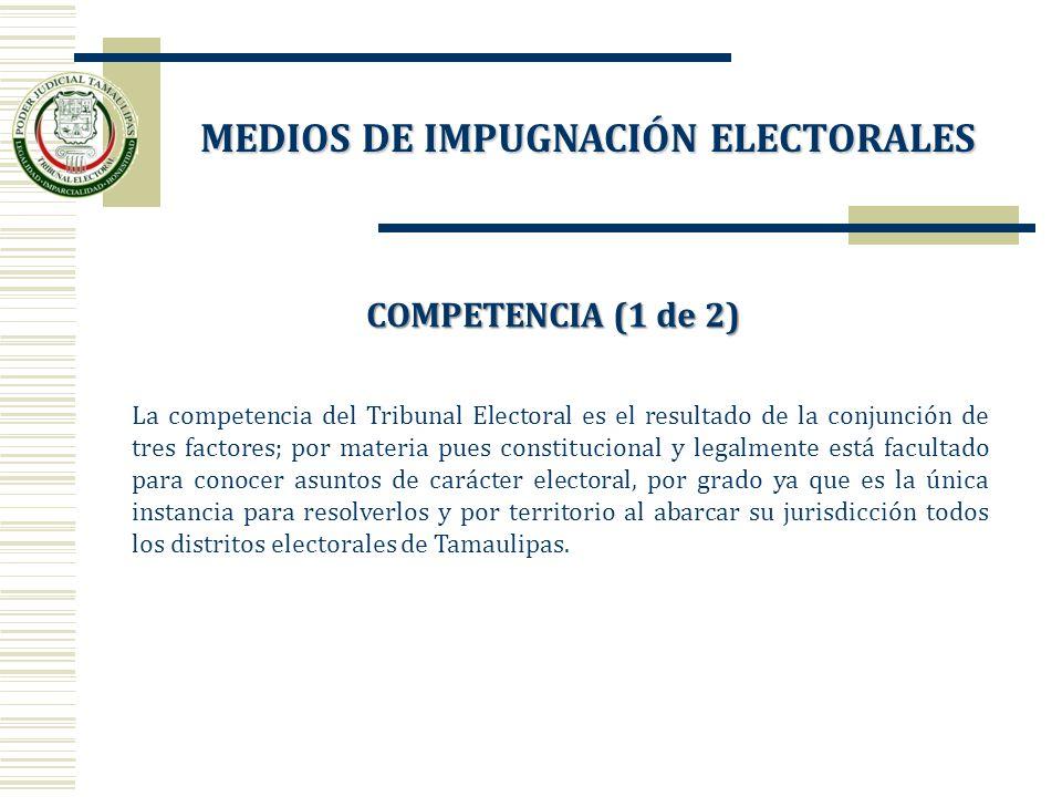 MEDIOS DE IMPUGNACIÓN ELECTORALES