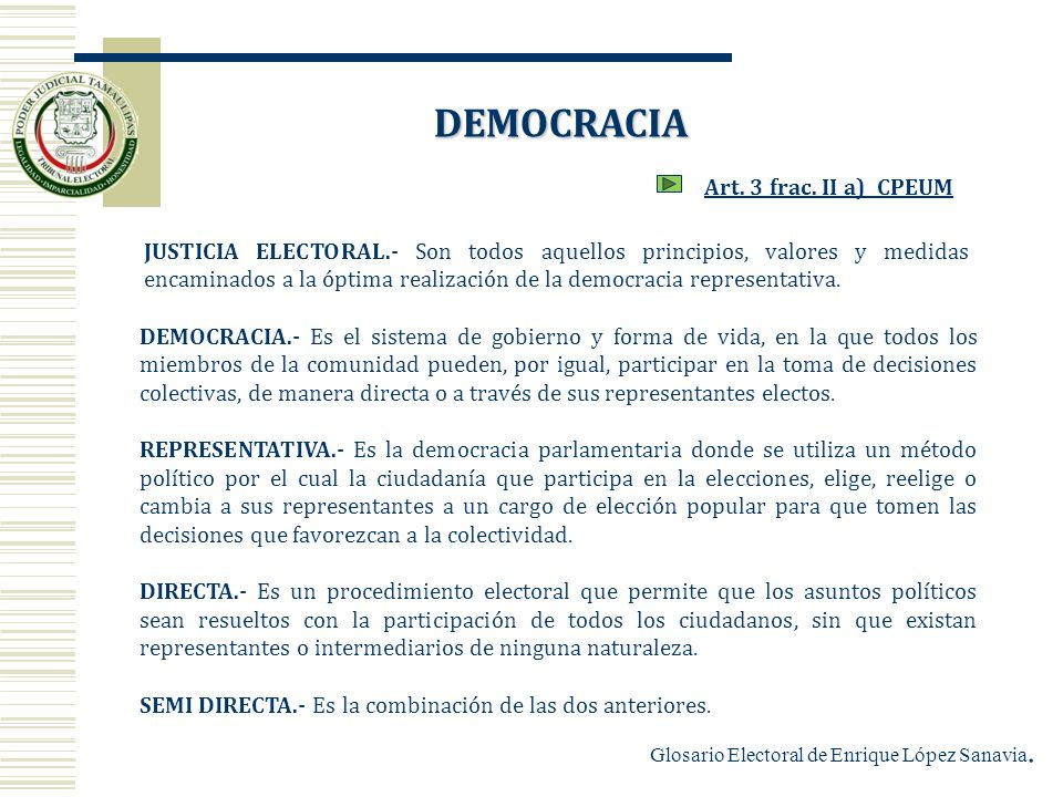 DEMOCRACIA Art. 3 frac. II a) CPEUM