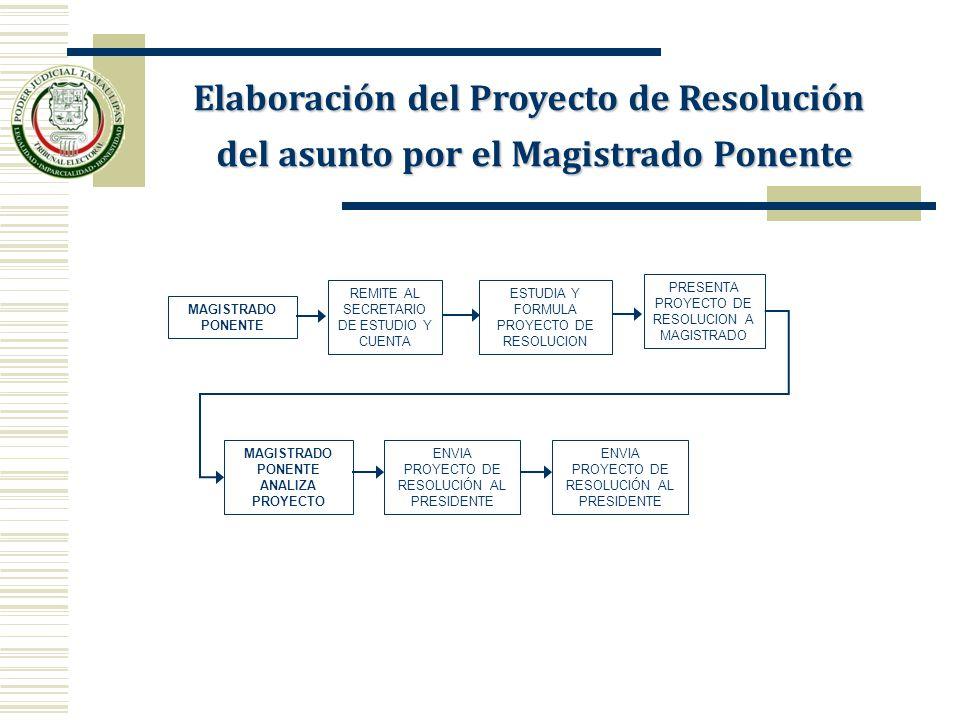 Elaboración del Proyecto de Resolución