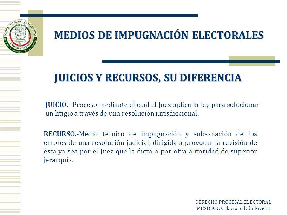 MEDIOS DE IMPUGNACIÓN ELECTORALES JUICIOS Y RECURSOS, SU DIFERENCIA