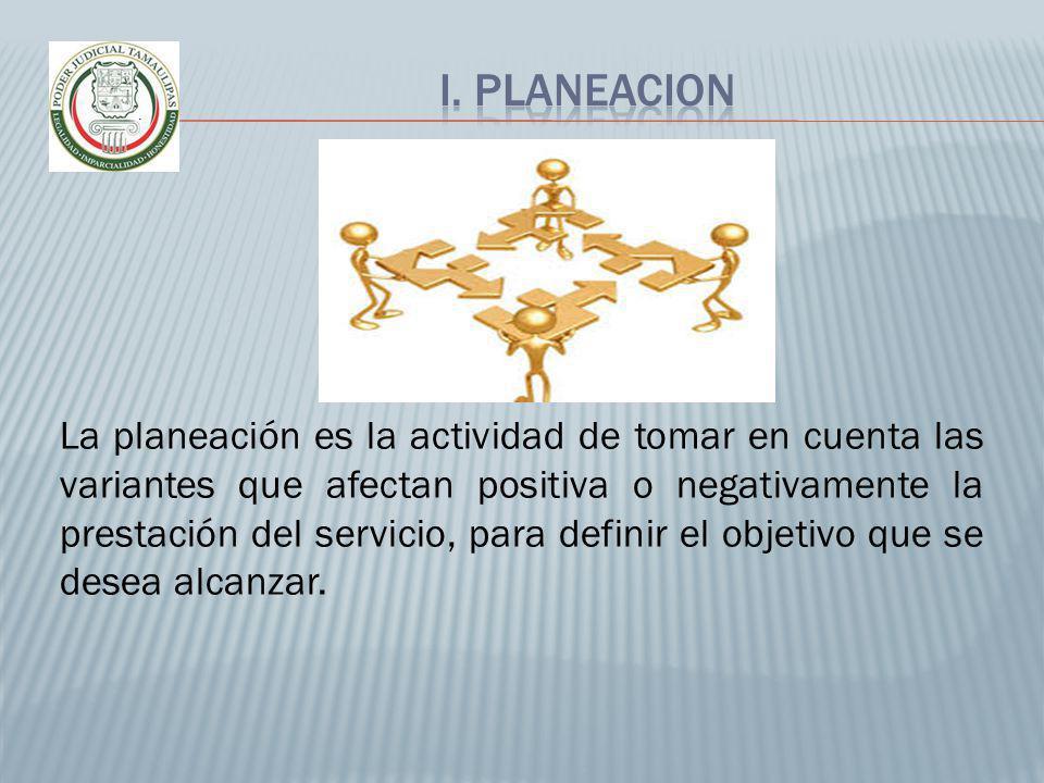 I. PLANEACION