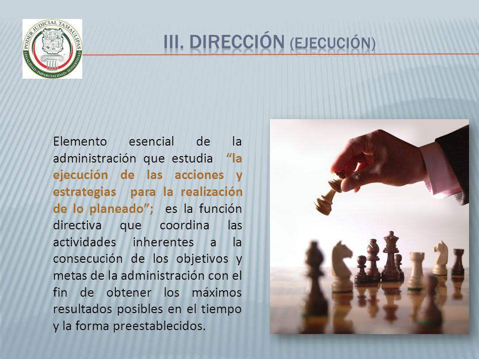 III. Dirección (EJECUCIÓN)
