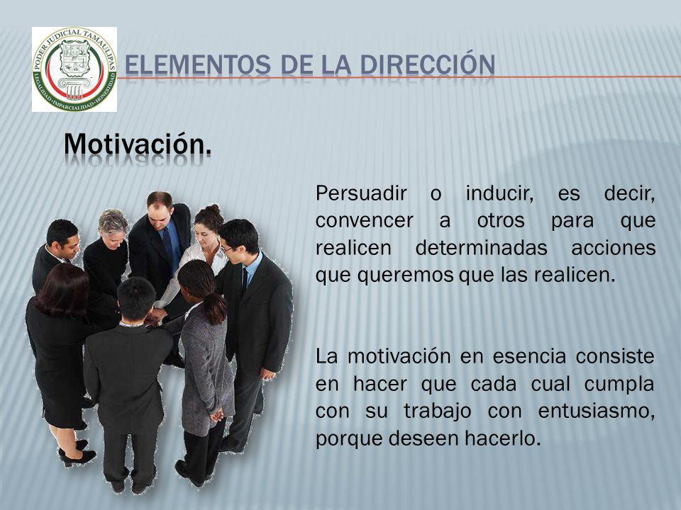 Motivación. Elementos de la dirección
