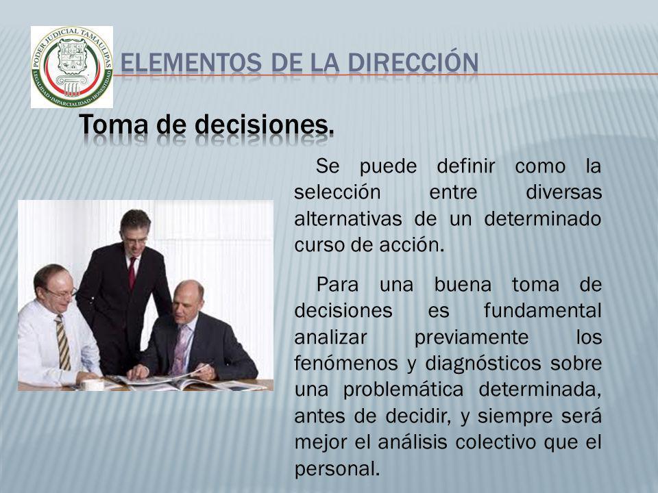 Toma de decisiones. Elementos de la dirección