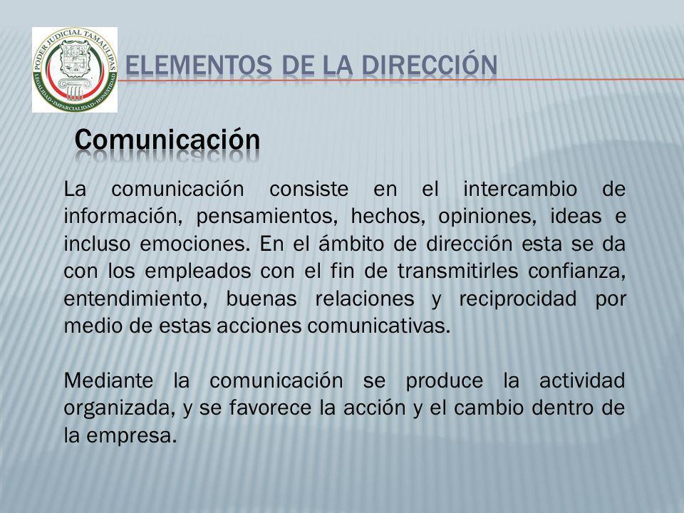 Comunicación Elementos de la dirección