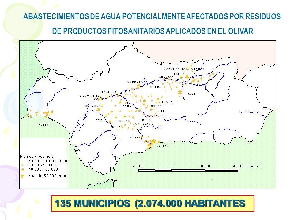 135 MUNICIPIOS (2.074.000 HABITANTES