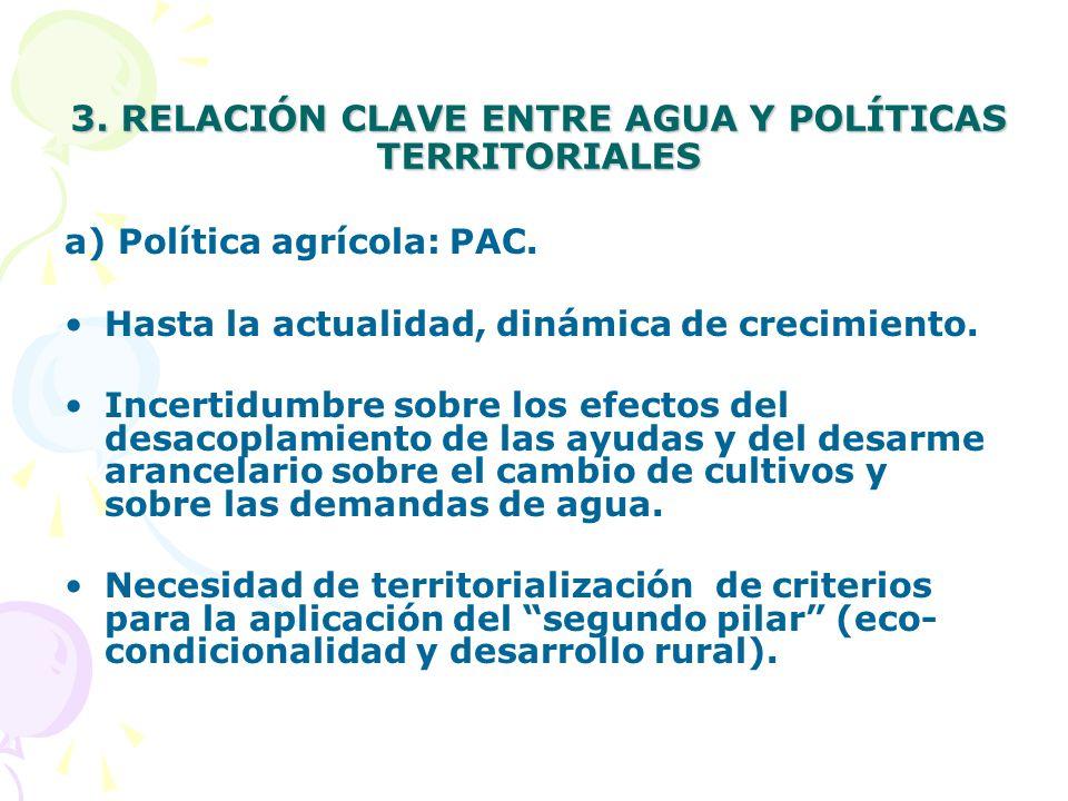 3. RELACIÓN CLAVE ENTRE AGUA Y POLÍTICAS TERRITORIALES