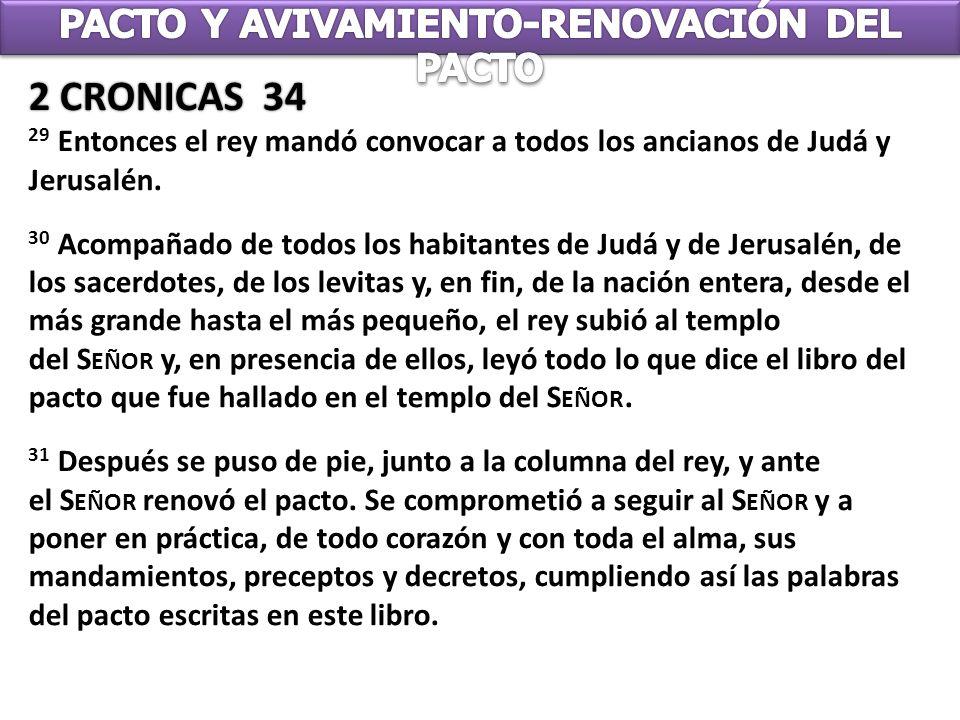 PACTO Y AVIVAMIENTO-RENOVACIÓN DEL PACTO