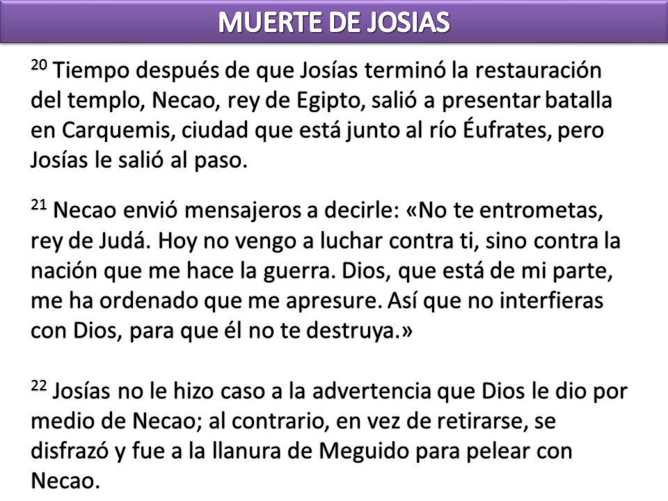 MUERTE DE JOSIAS