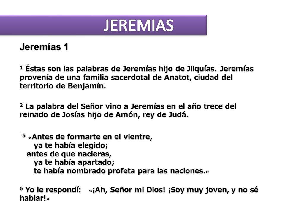 JEREMIAS Jeremías 1