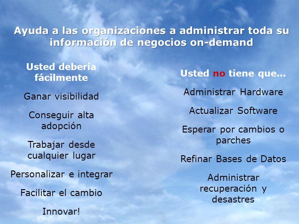 Ayuda a las organizaciones a administrar toda su información de negocios on-demand