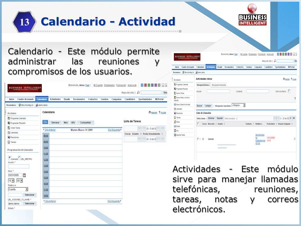 Calendario - Actividad