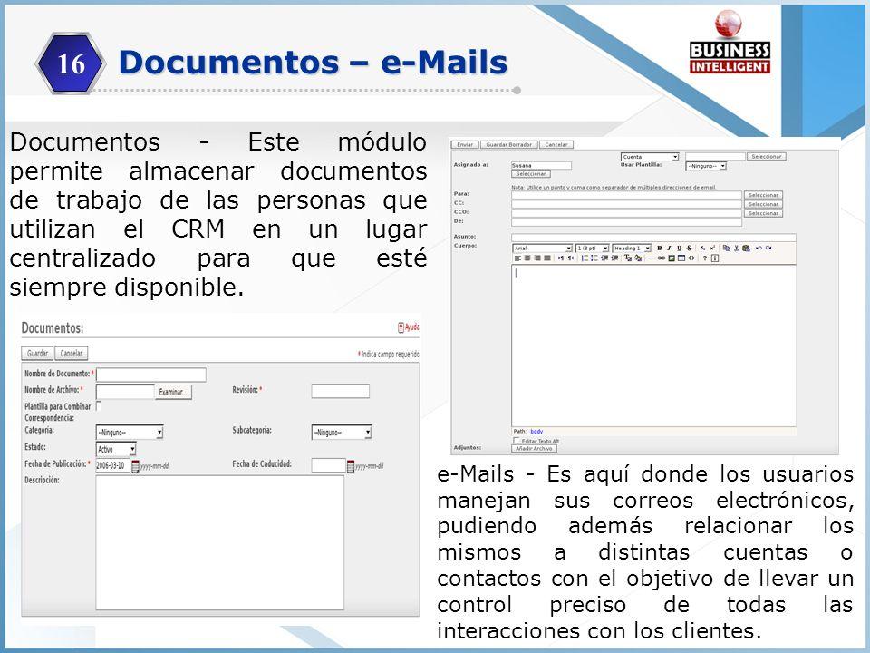 16 Documentos – e-Mails.