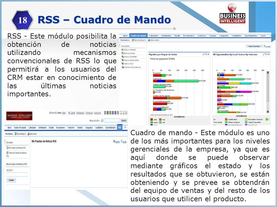 18 RSS – Cuadro de Mando.