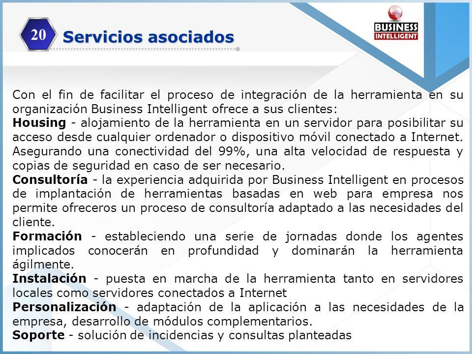 20 Servicios asociados.