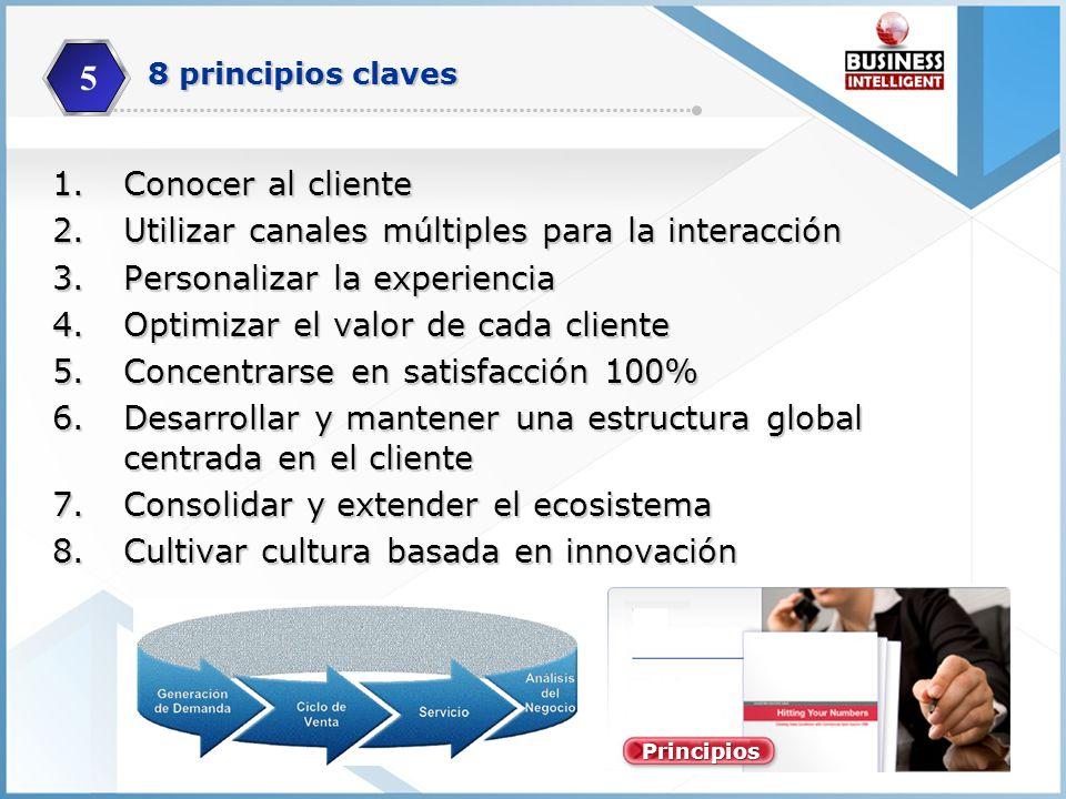 5 Conocer al cliente Utilizar canales múltiples para la interacción