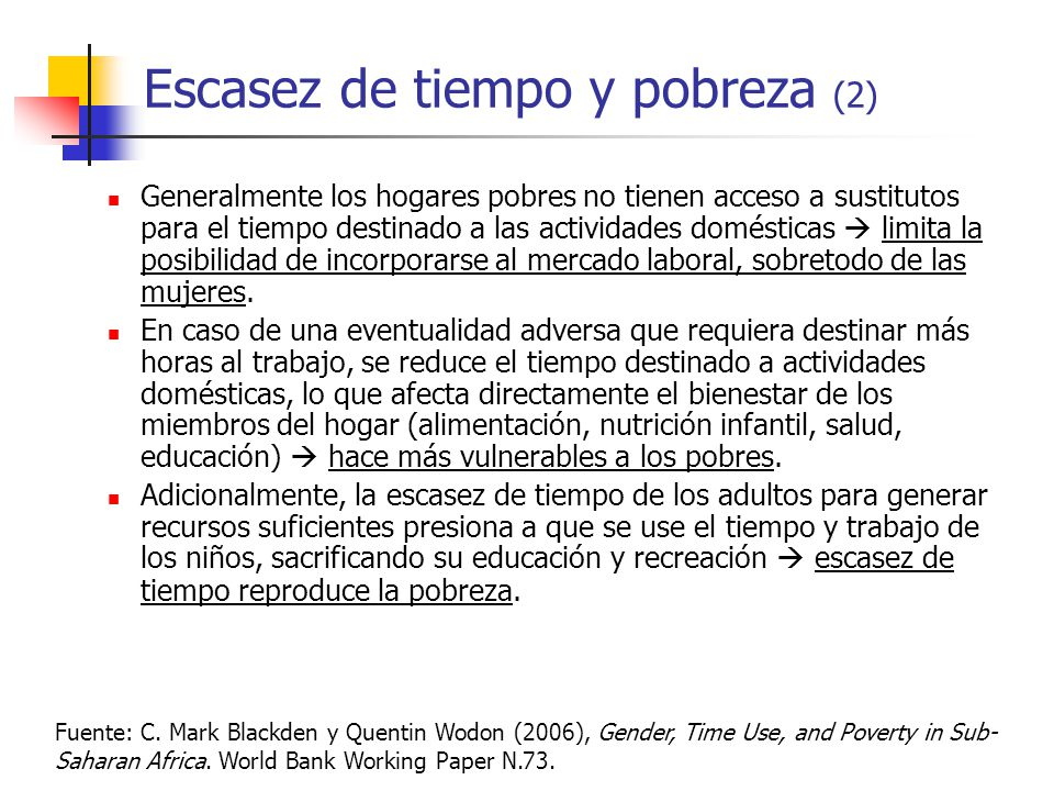 Escasez de tiempo y pobreza (2)