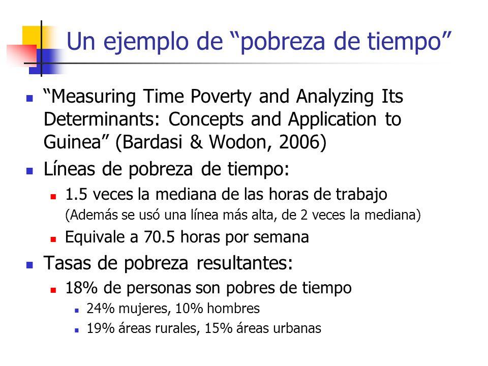 Un ejemplo de pobreza de tiempo