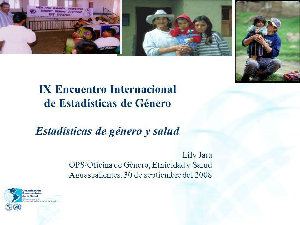 IX Encuentro Internacional de Estadísticas de Género
