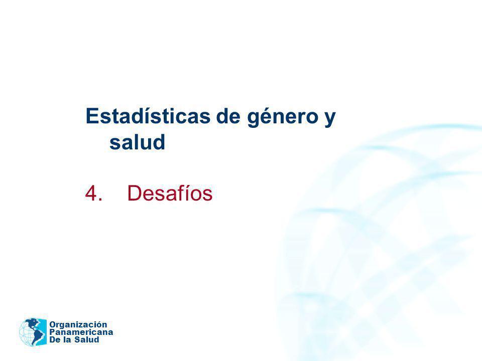 Estadísticas de género y salud