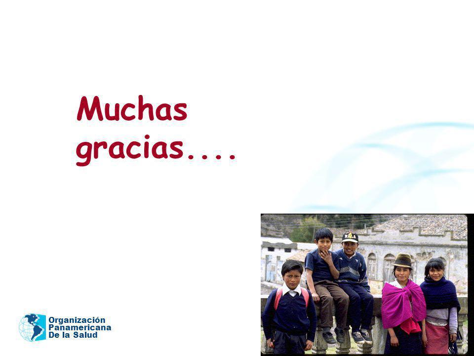 Muchas gracias.... Organización Panamericana De la Salud