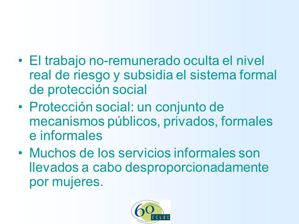 13 November 2007 El trabajo no-remunerado oculta el nivel real de riesgo y subsidia el sistema formal de protección social.