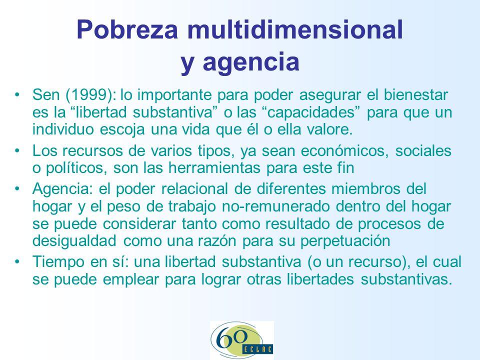 Pobreza multidimensional y agencia