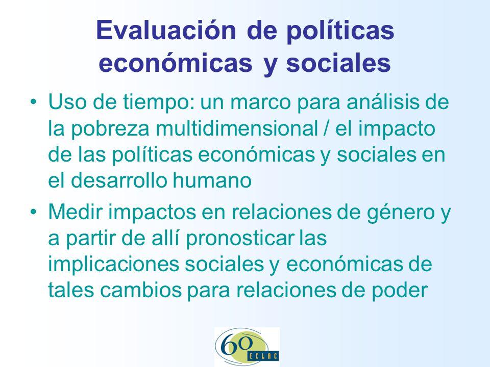 Evaluación de políticas económicas y sociales