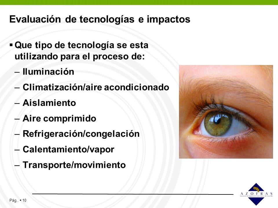 Evaluación de tecnologías e impactos
